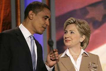 Μπάρακ και Χίλαρυ στο ρινγκ